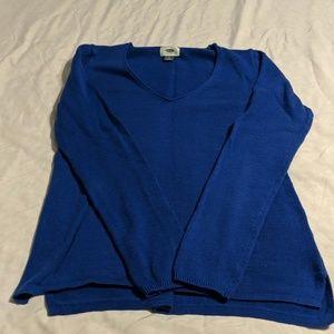 Royal Blue V_neck Sweater